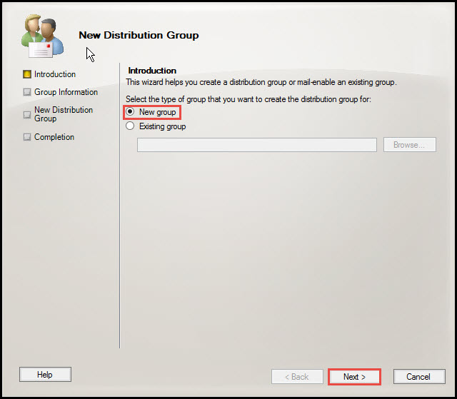 Training exchange server 2010 distribution group 2