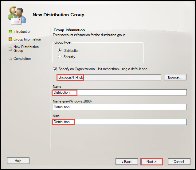 Training exchange server 2010 distribution group 5