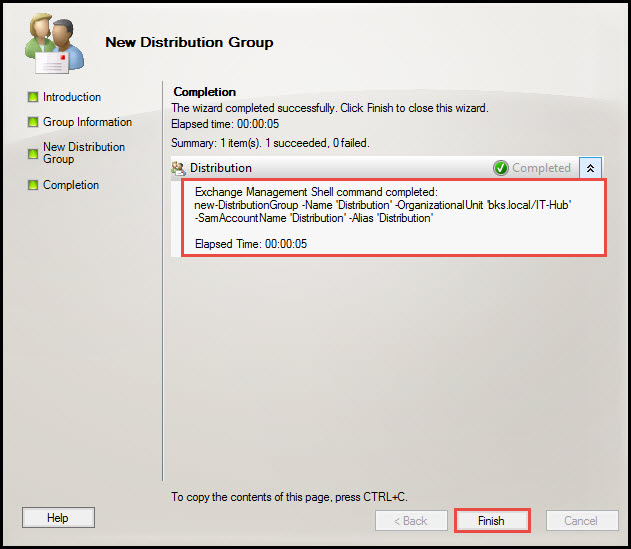 Training exchange server 2010 distribution group 7
