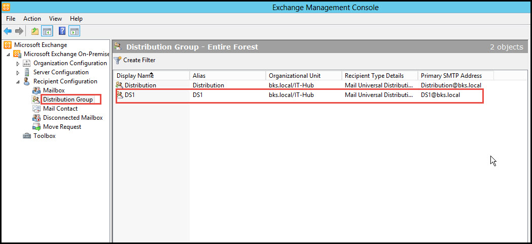 Training exchange server 2010 distribution group exchnage management console 13