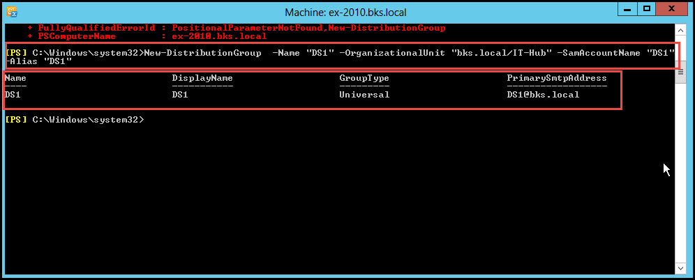 Training exchange server 2010 distribution group machine bks local 12