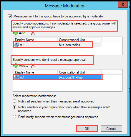 Training exchange server 2010 test moderation for distribution group message moderation 2