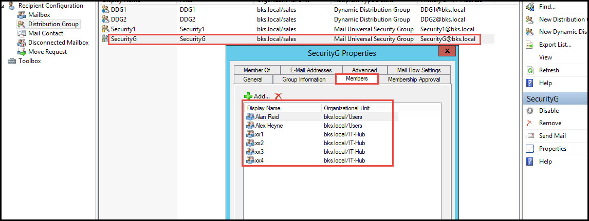 Training exchange server 2010 test moderation for distribution group security properties 1