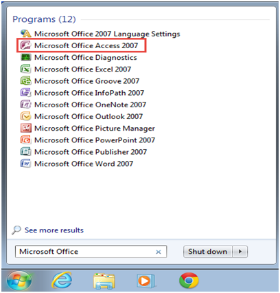 Microsoft access training 2007 Tables feature of Create menu 1