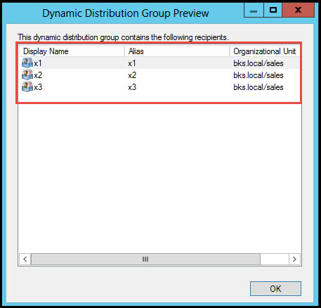 Training exchange server 2010 Testing of Distribution Group dynamic distribution group preview 3