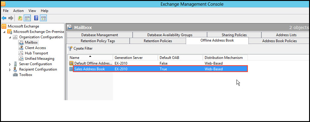 Training exchange server 2010 exchange management console 13