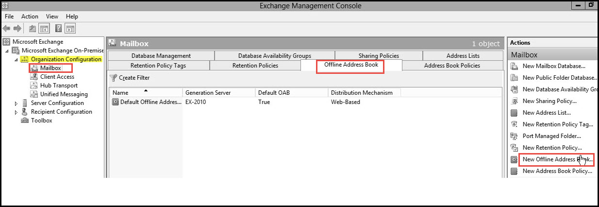 Training exchange server 2010 exchnage management console 1