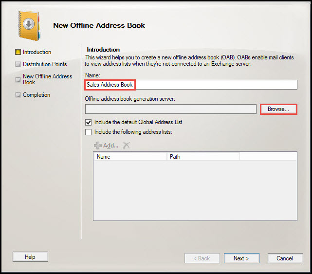Training exchange server 2010 new offline address book 2