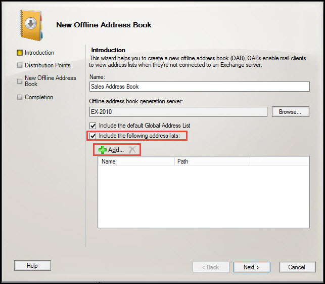 Training exchange server 2010 new offline address book introduction 4