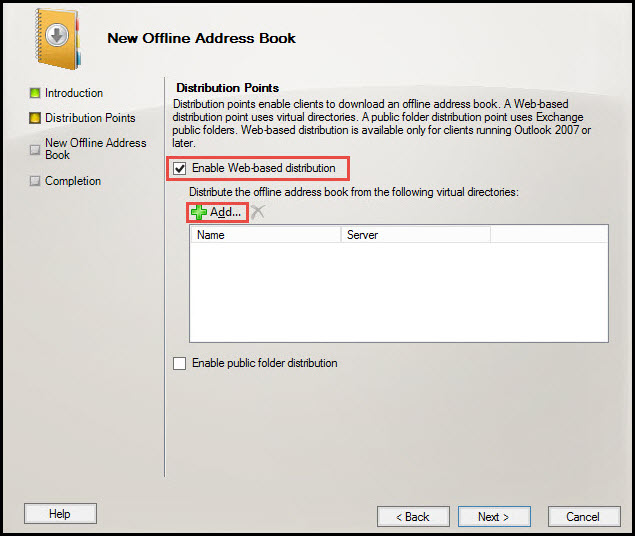 Training exchange server 2010  select address list enable web based distribution 7