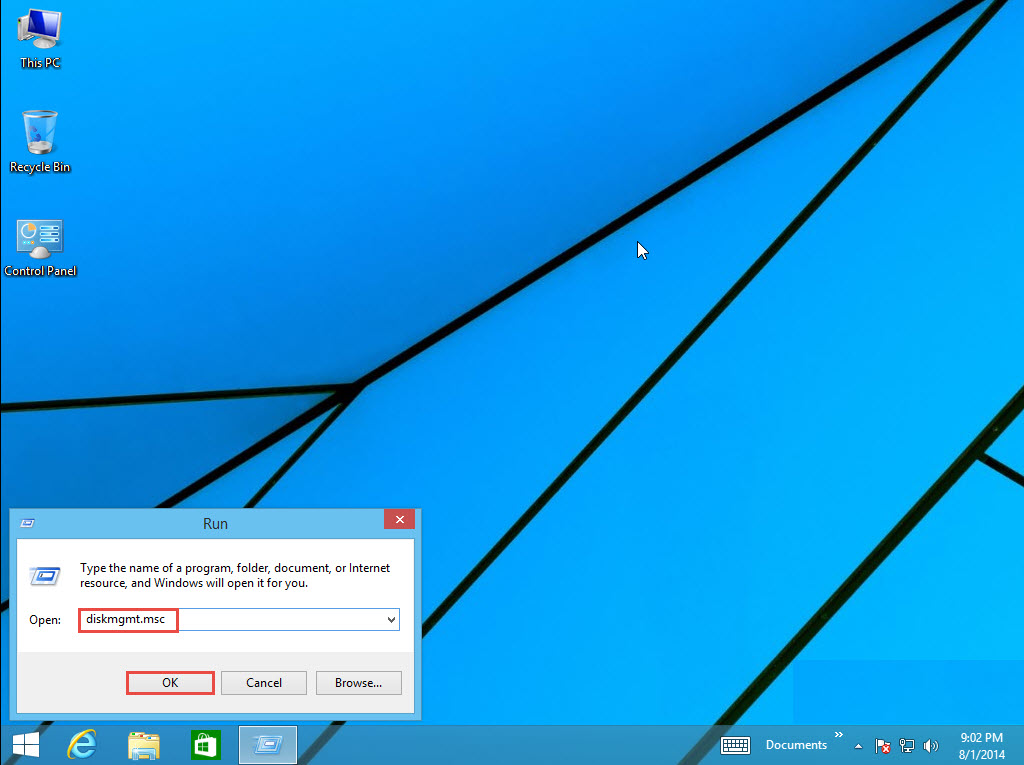 Windows 8 Training Extend partition 1