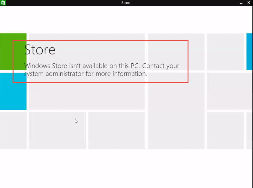 Disable the Windows Store from Window 8 store disable 9