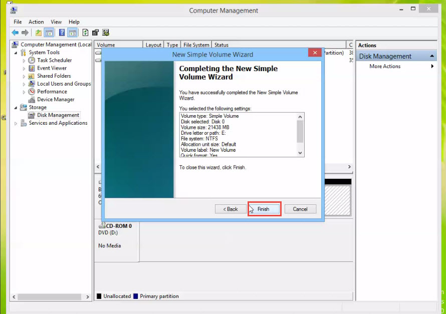 how to create new drive in windows 7
