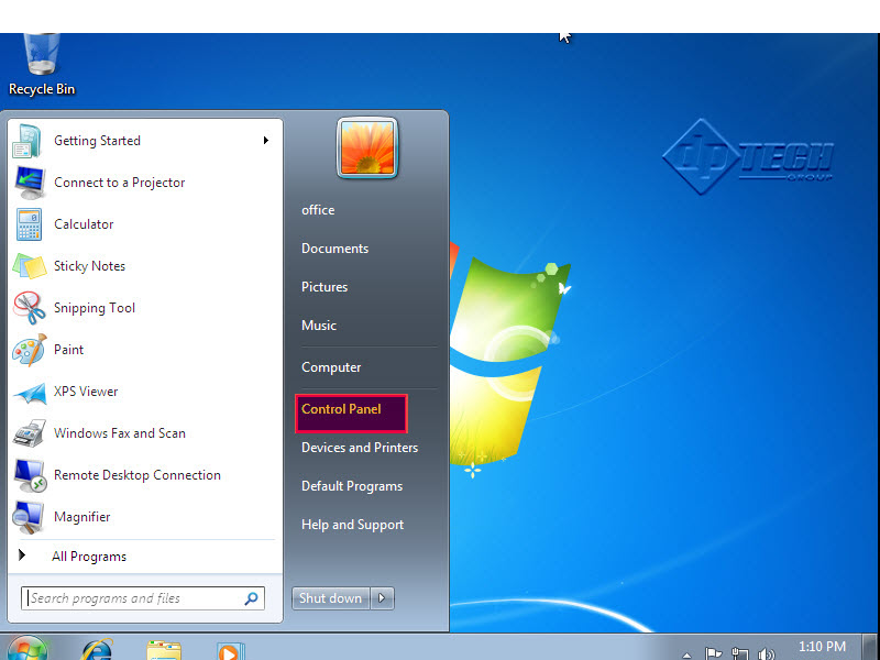 how to set up 2 screens on windows 7