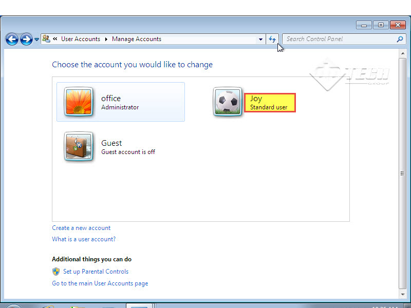 Microsoft training 2007  Add User Account and set Password manage account 6