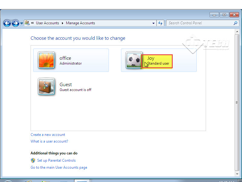 Microsoft training 2007 Add User Account and set Password manage account 9