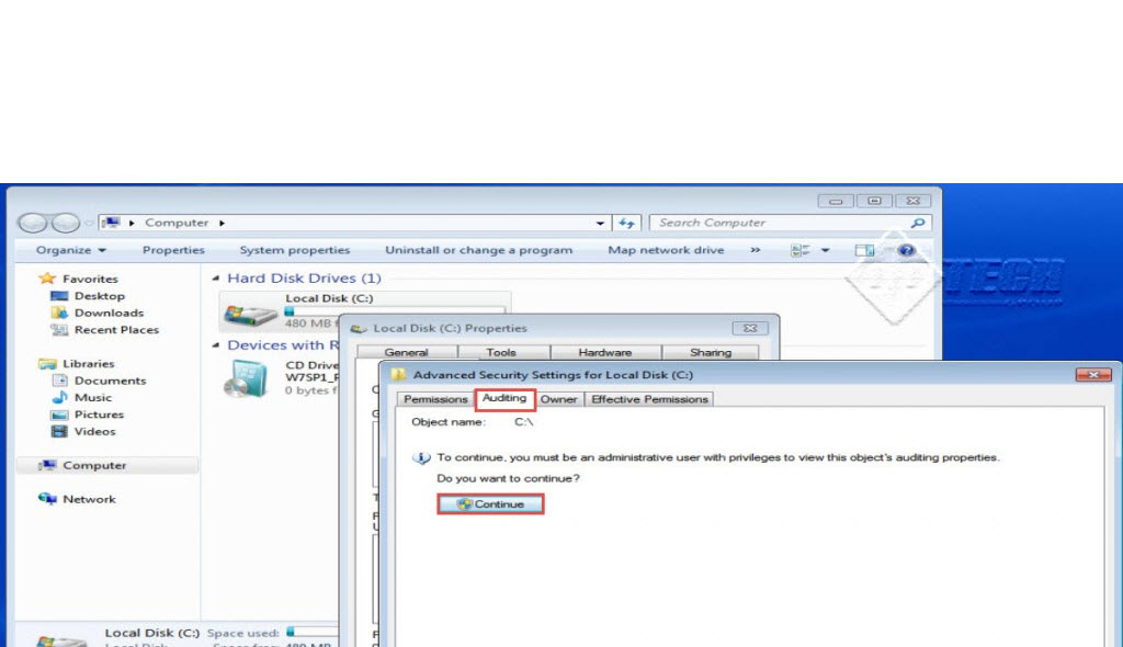 Microsoft training 2007 Configure Local security Policy auditing 9