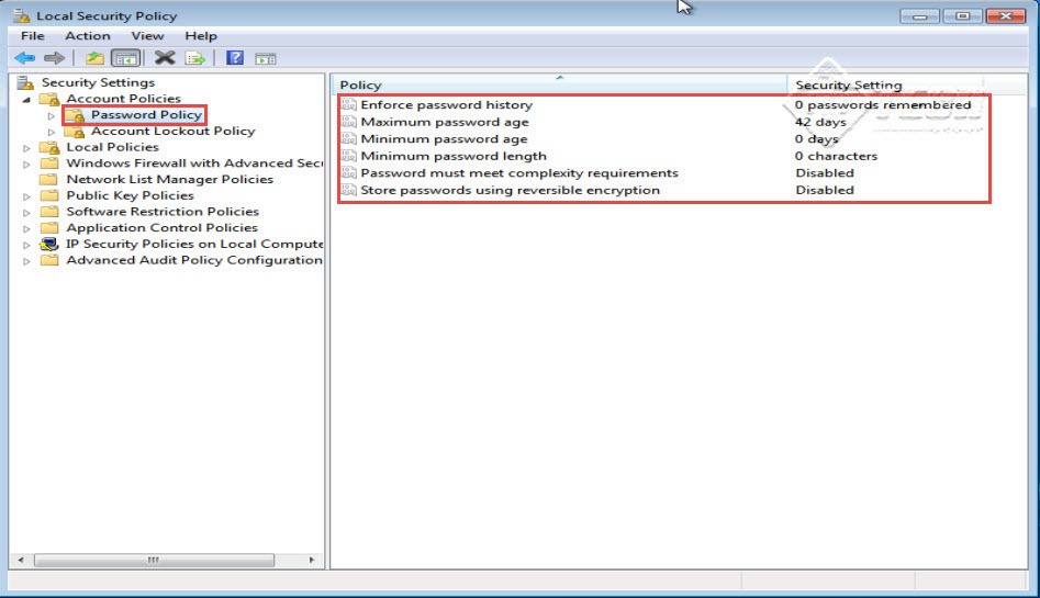 Microsoft training 2007 Configure Local security Policy password policy 3