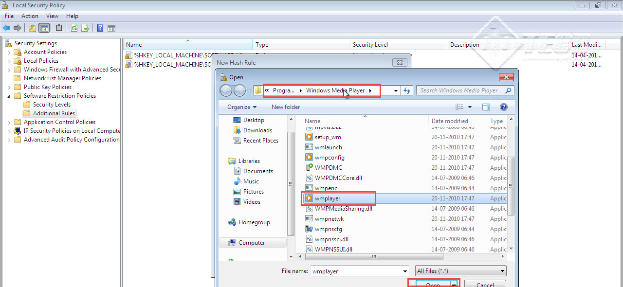 Microsoft training 2007 Configure Local security Policy wmplyer 5