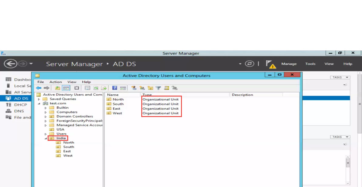 Microsoft training 2012 window server manager active directory users and computers 5