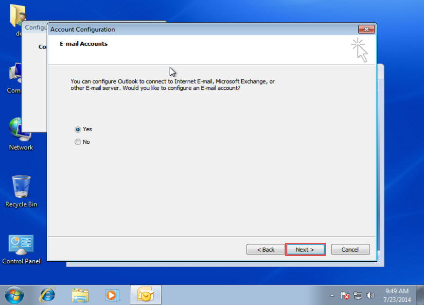how to delete outlook email account 2014