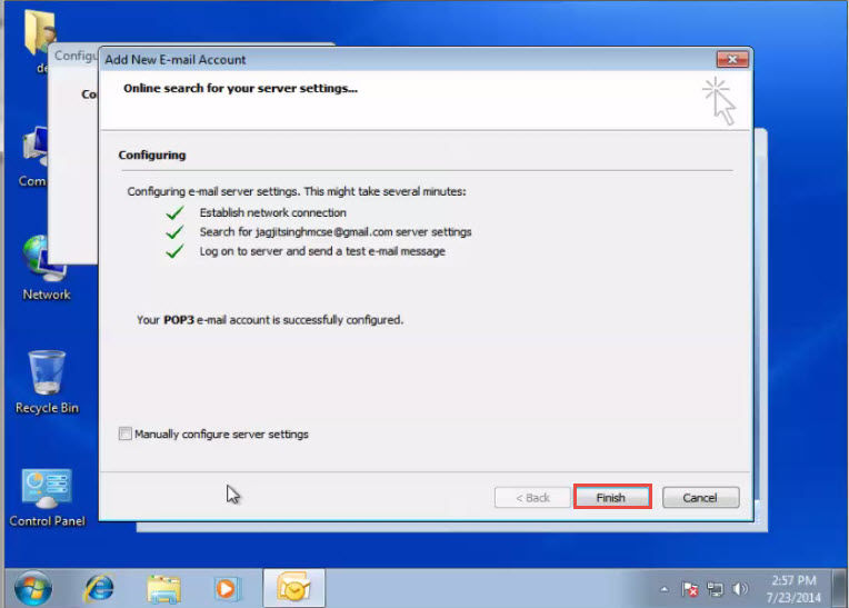 Microsoft training Configure an Email Account in Outlook 2007 add new email account 4