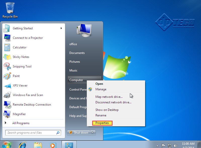 how to give a user full control windows 7