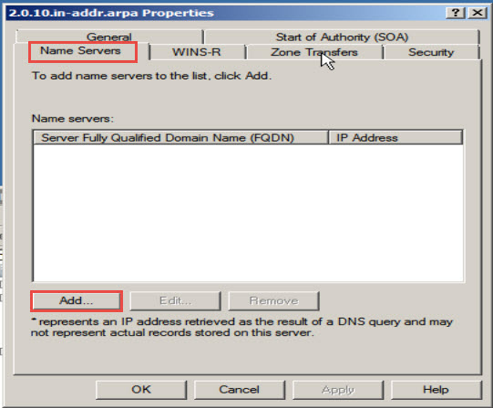 Training to Install Domain Name System (DNS) In Windows Server 2008 add domain server names
