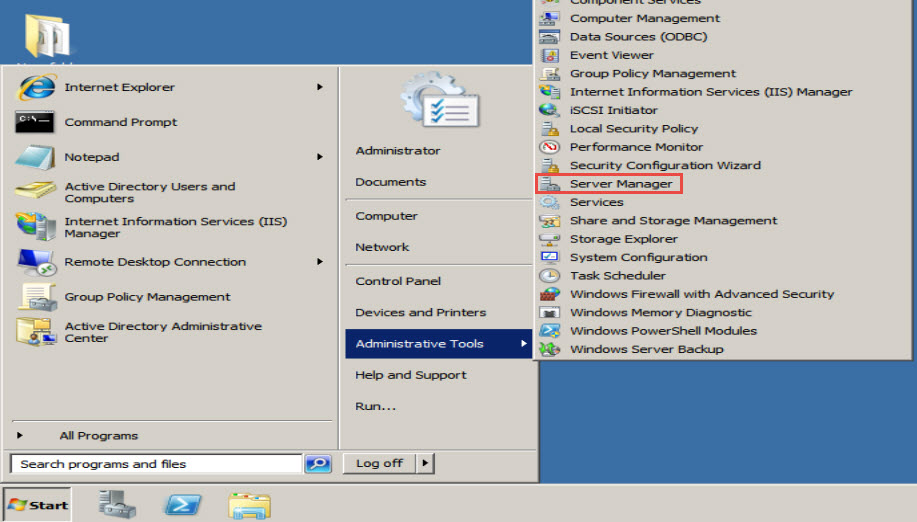 Training to Install Domain Name System (DNS) In Windows Server 2008 administrative tools