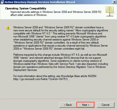 Training to Install Read Only Domain Controller (RODC) Installation wizard