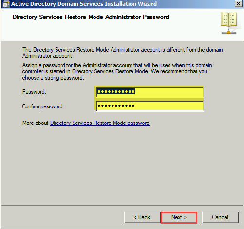 Training to Install Read Only Domain Controller (RODC)  password