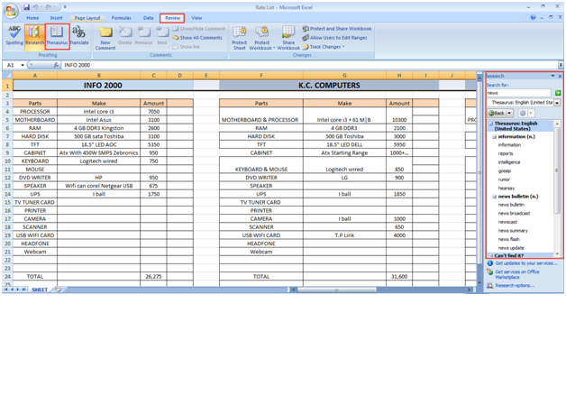 microsoft excel training 2007 How to Use Proofing Tool 6
