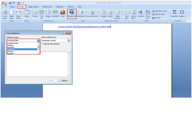 microsoft word training 2007 how to use hyperlink 4