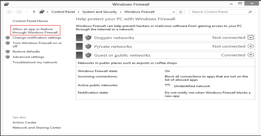 Open firewall Training  to Configure FTP Server  on Windows Server 2012 (Part -4)