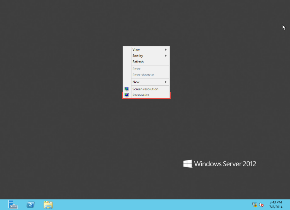 Training to Create MY Computer Shortcut in Windows Server 2012  server manager 10