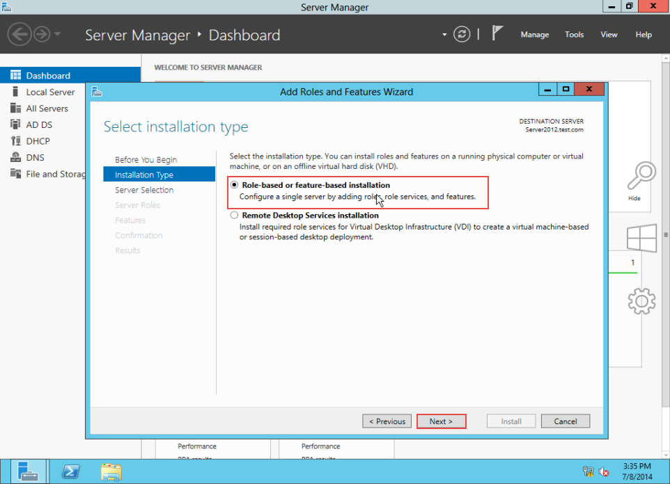 Training to Create MY Computer Shortcut in Windows Server 2012 server manager 4