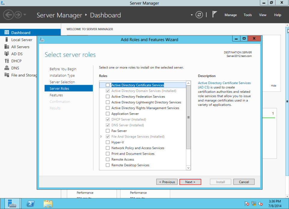 Training to Create MY Computer Shortcut in Windows Server 2012 server manager 6