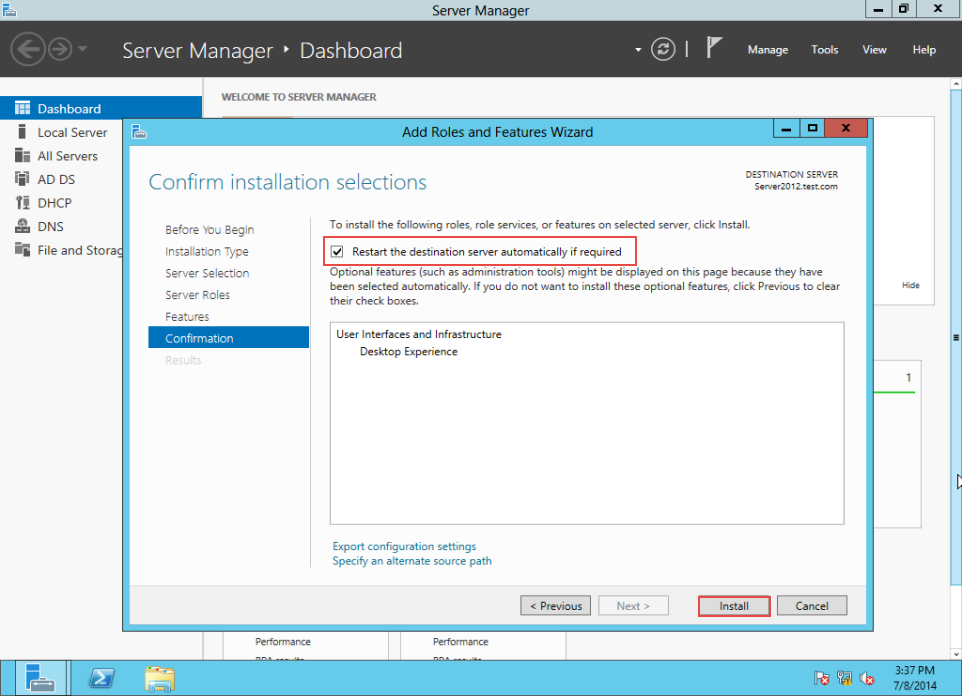 Training to Create MY Computer Shortcut in Windows Server 2012 server manager 8