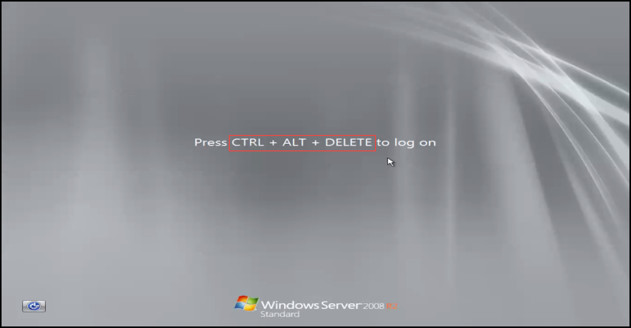 Training to Install Additional  Domain Controller in an Existing Forest control+alt+delete