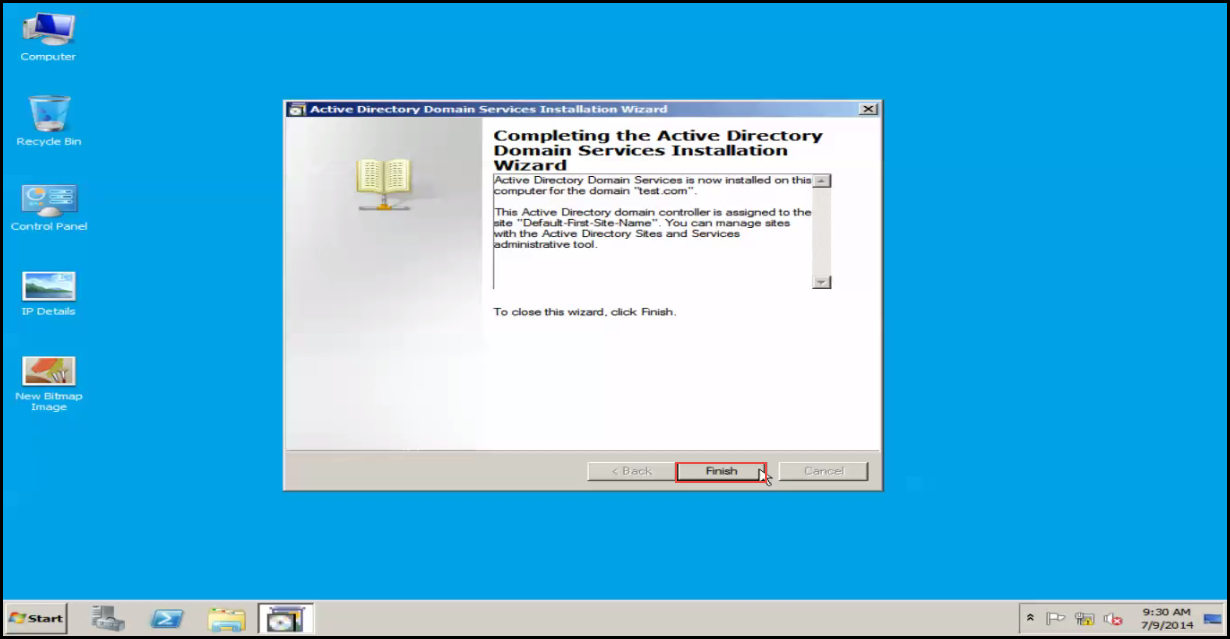 Training to Install Additional  Domain Controller in an Existing Forest restart now