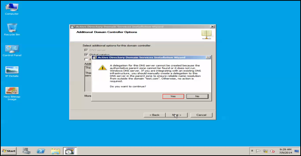 Training to Install Additional  Domain Controller in an Existing Forest yes