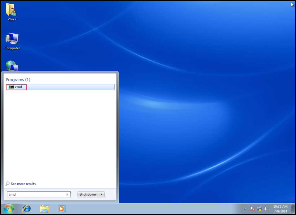 6 Open command prompt