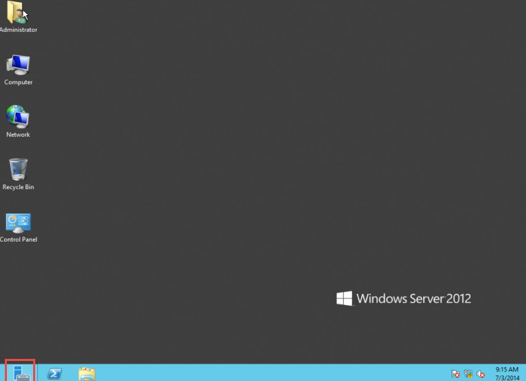 Training to Install DHCP Service on Microsoft Windows Server 2012 Open Server Manager