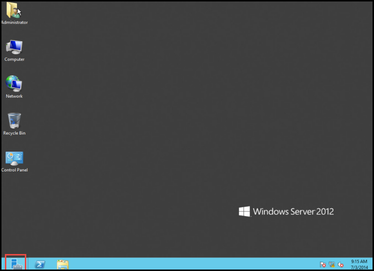 Training to Reset Domain User account in Windows Server 2012 server manager