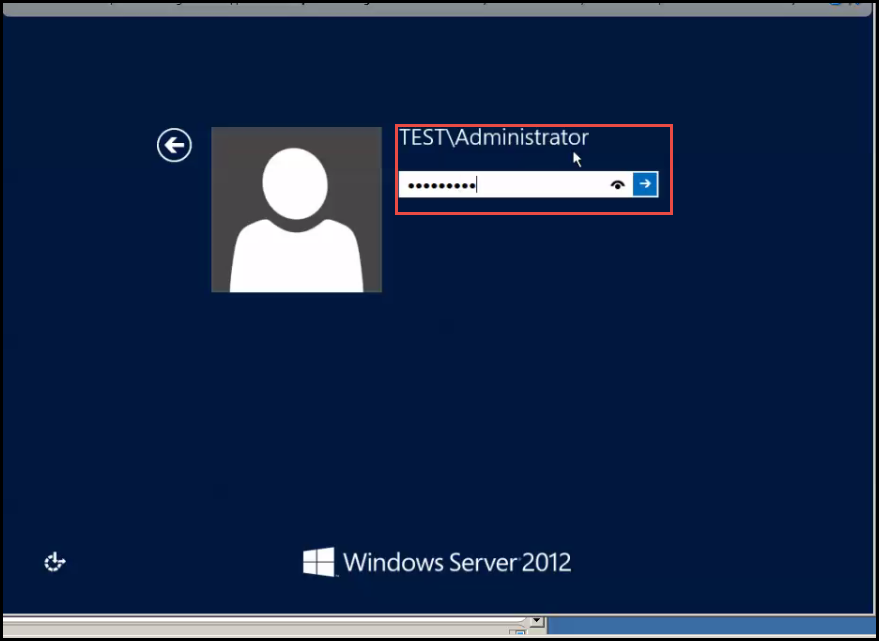 install active directory training 2012 Enter Domain Administrator credential